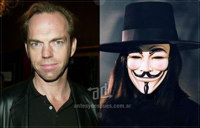 Hugo Weaving Como V De Vendetta Hugo Weaving Famosos Mascaras