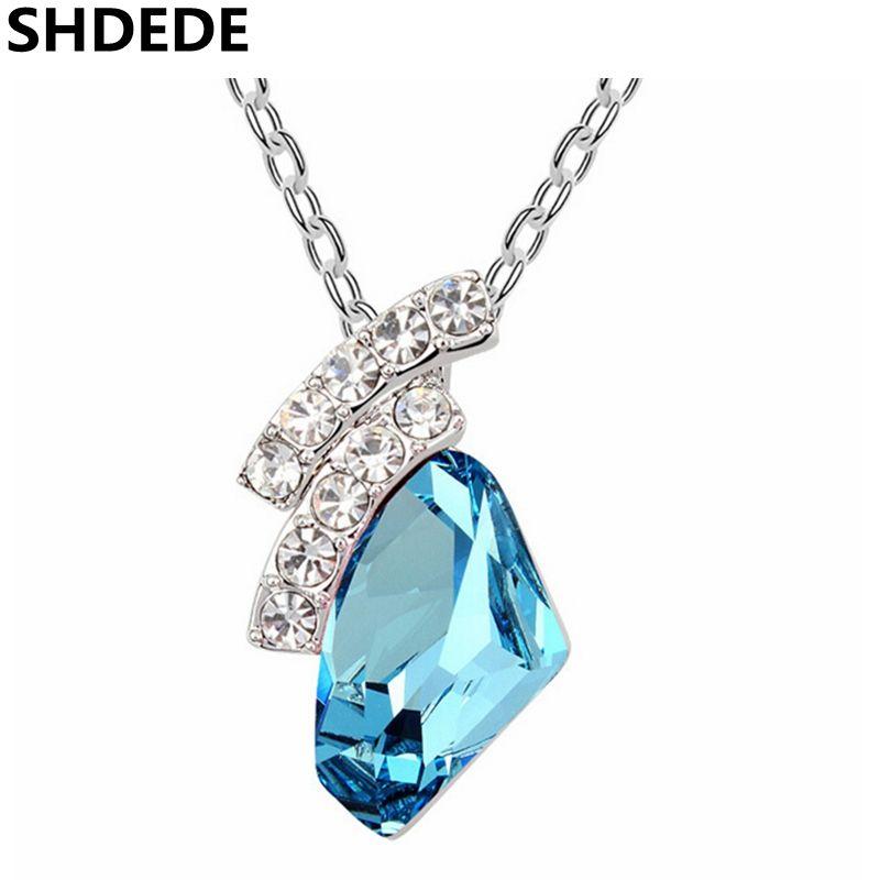 a4badef3a28cd SHDEDE Wedding Jewelry Crystal from Swarovski Short Necklace ...