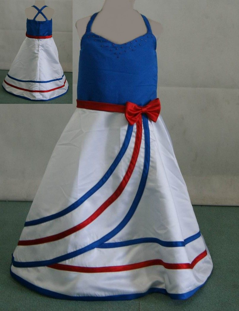 red white and blue clothing | Red white and blue pageant dress ...