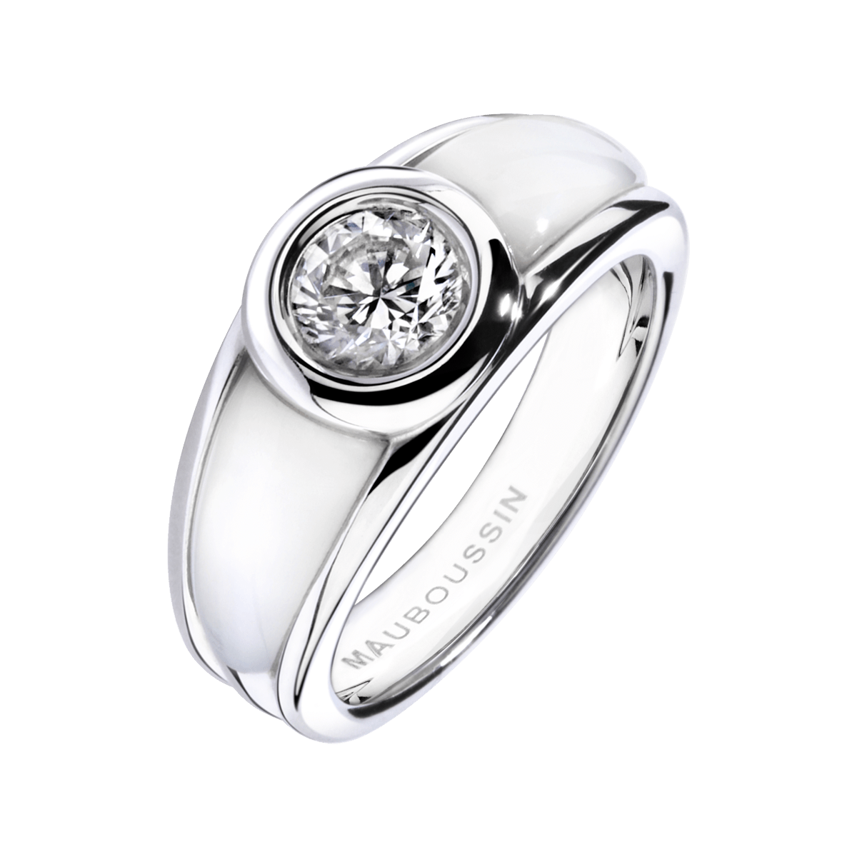 Top Bague Nadia or blanc, diamant, nacre blanche - Mauboussin | Ile  FT34