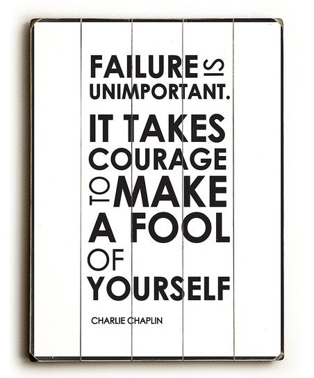 Failure is Unimportant' Wall Art