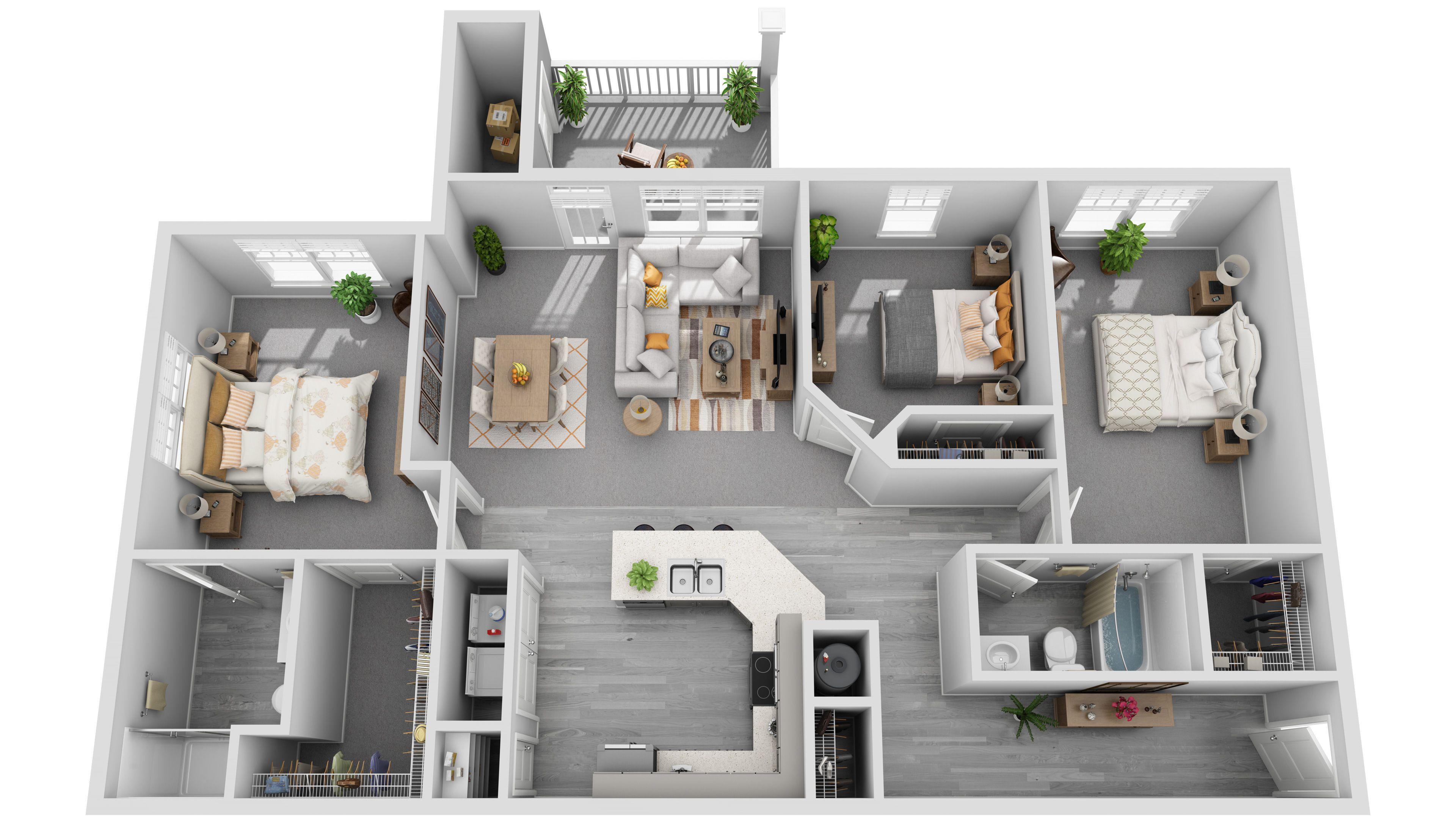 Gallery 3d Plans 3dplans House Layout Plans Architectural House Plans Floor Plan Design