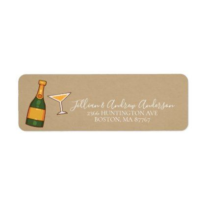 Cheers to a New Year Address Label - return address labels label - address label