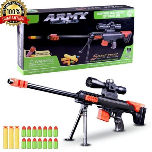 Nerf Gun Strike Darts Sniper Elite Toy Rifle Water Crystal Bullet Light  Barrett