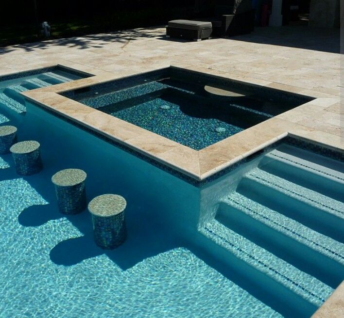 Swimming Pool Design Reference: Spa With Swim Up Bar €�