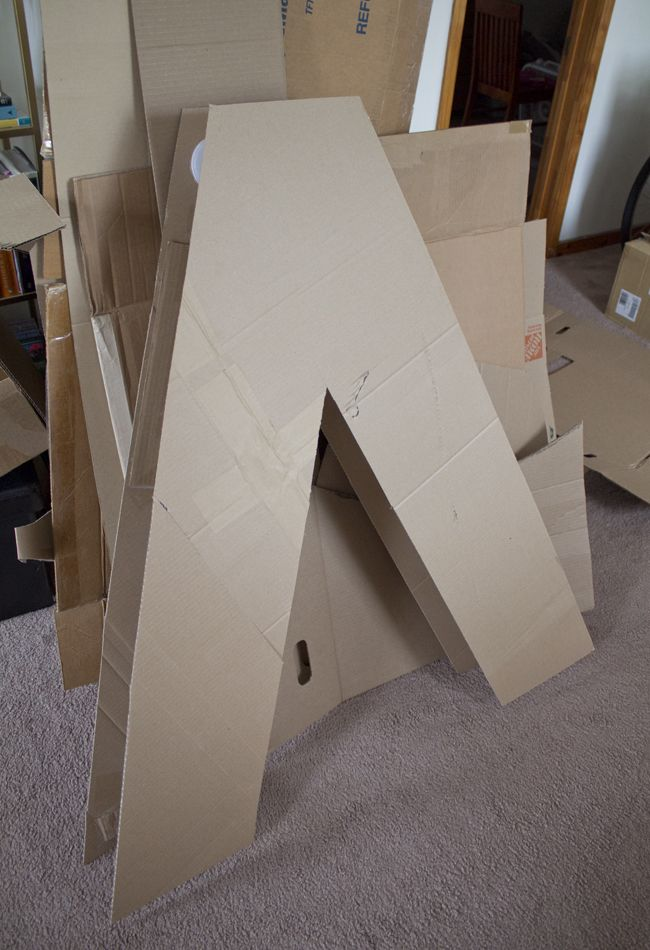 Making giant letters out of cardboard postres for Cheap 3d cardboard letters