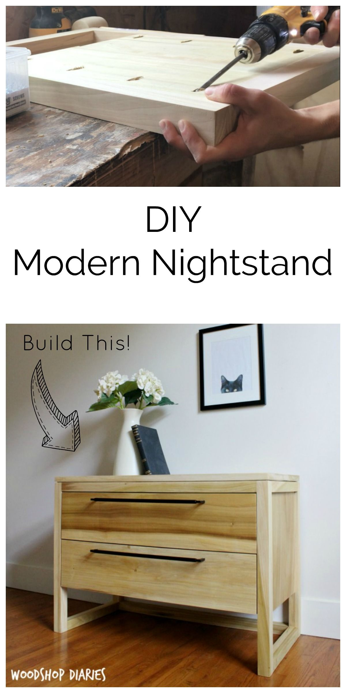 Photo of How to Build a Simple Modern Nightstand