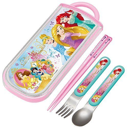 NEW Chopsticks Spoon Fork Set Disney Princess Alice Ariel Outdoor Lunch TCS1AM | eBay