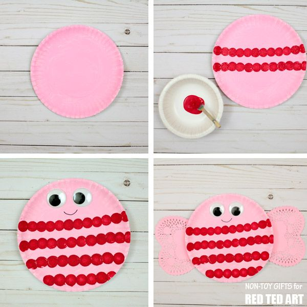 Adorable Love Bug Paper Plate Valentines for Preschoolers. These little Love Bugs or Bee Mine  sc 1 st  Pinterest & Bee Mine Paper Plate Valentines | Bees Decoration and Craft