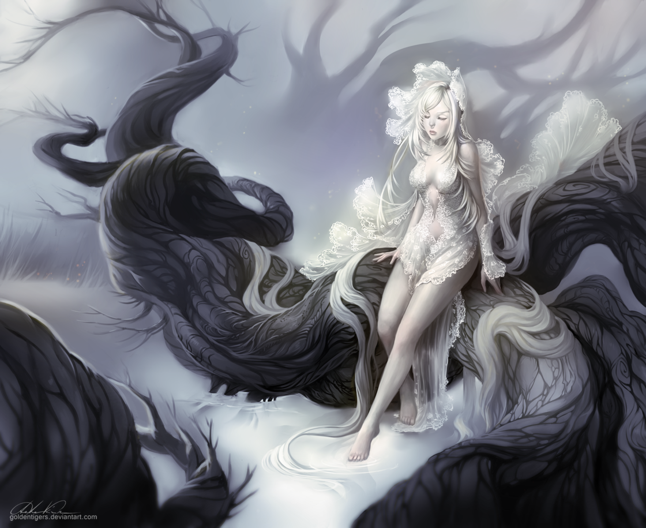 Witch of the northern forest by goldentigers.deviantart.com on @deviantART