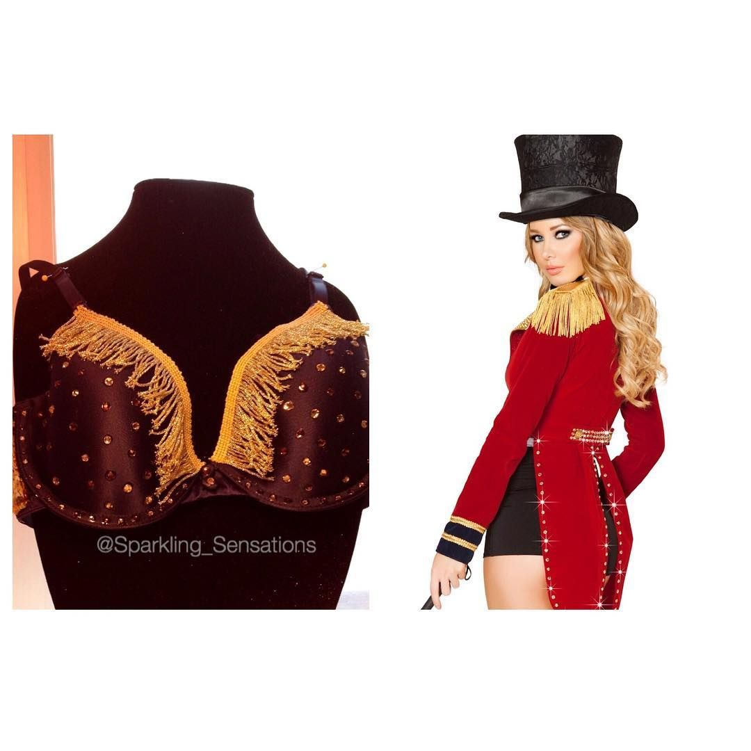 Use this swarovski bra to be a circus ringleader for halloween size