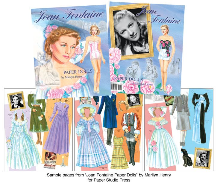 Joan Fountain paper doll | Joan Fontaine Paper Dolls [Genteel Hollywood Star] : Paper Dolls from ...