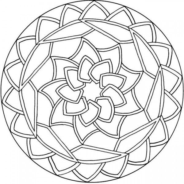 simple mandala coloring pages 01  Mandalas en blanco y negro