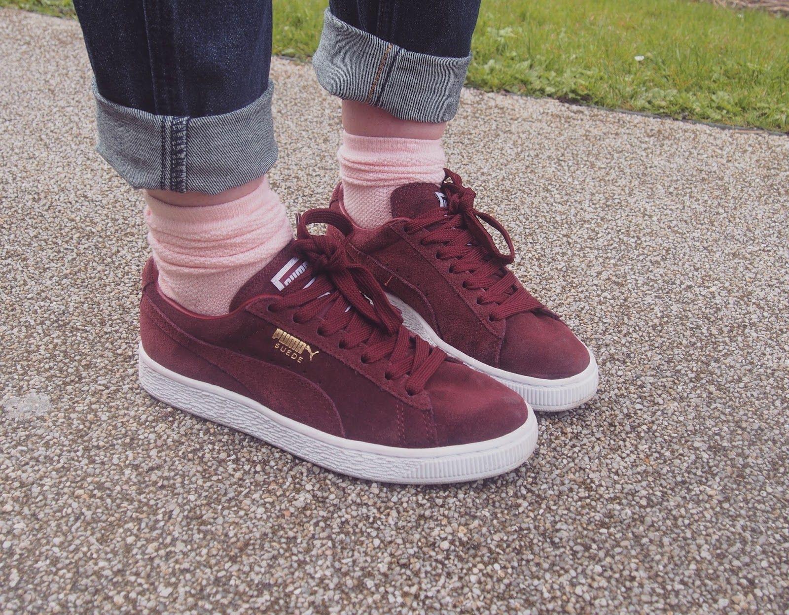 puma sneakers suede bordeaux