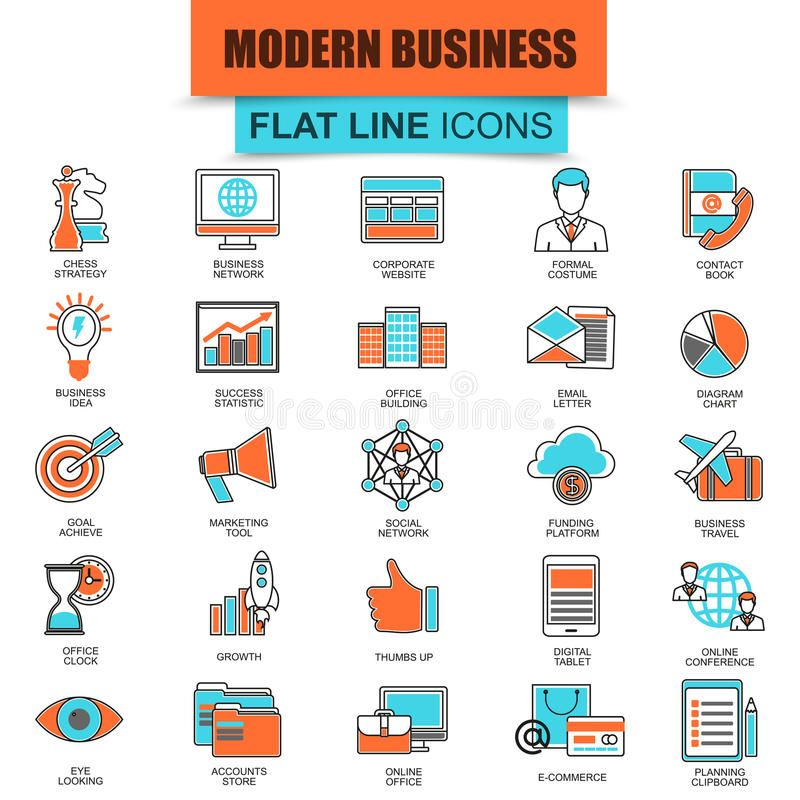 Set Of Thin Line Icons Doing Business Using Marketing Technology Ideas Modern M Spon Technology Marketing Ideas Line Icon Marketing Technology Icon