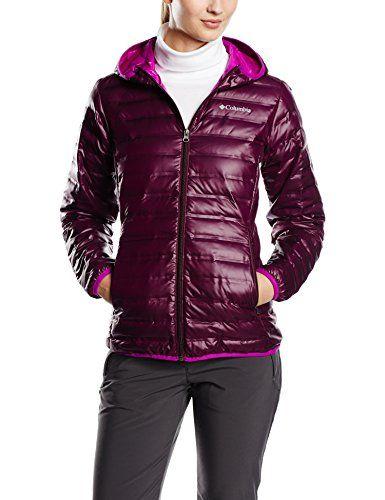 2d20f1892 Columbia Women's Flash Forward Hooded Down Jacket, Purple Dahlia ...