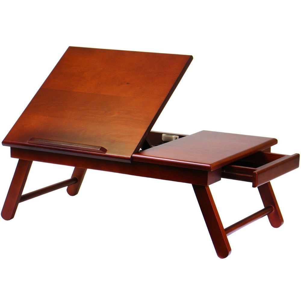 Portable reading table computer laptop ipad stand lap desk bed portable reading table computer laptop ipad stand lap desk bed couch tray walnut geotapseo Gallery