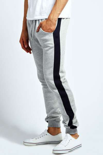 50eb11dc26a6 Skinny Fit Panel Joggers at boohoo.com | Older Aw15 inspiration ...