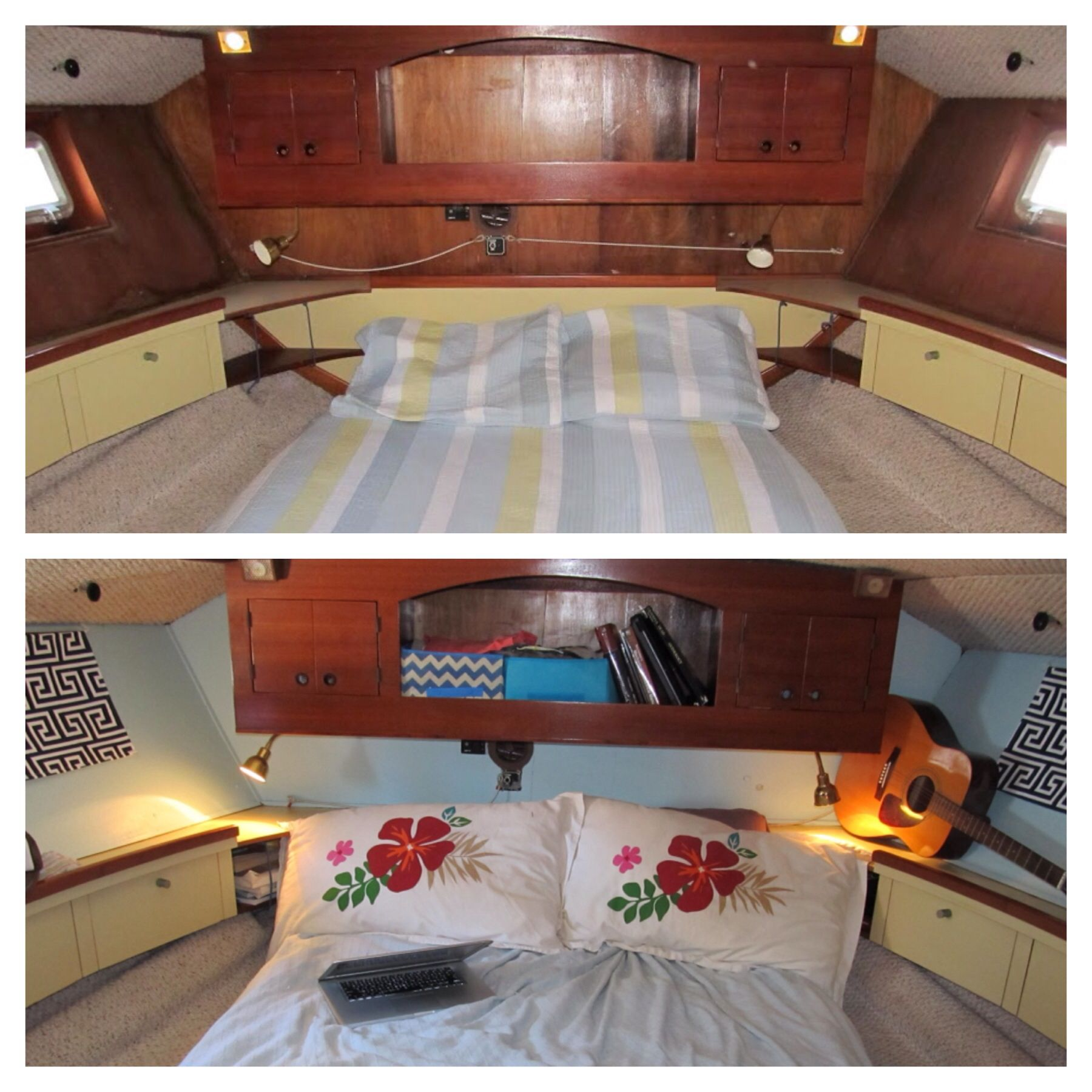 Boat Interior Makeover For Less Than 200 This Family Renovated