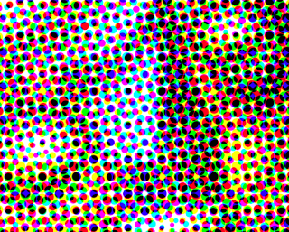 CMYK WITH HALFTONE DOTS - Example of CMYK print pattern