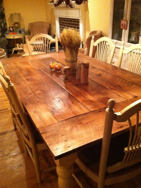 Reclaimed Wood Table Top New Jersey Harvest 42 X 72 Farm