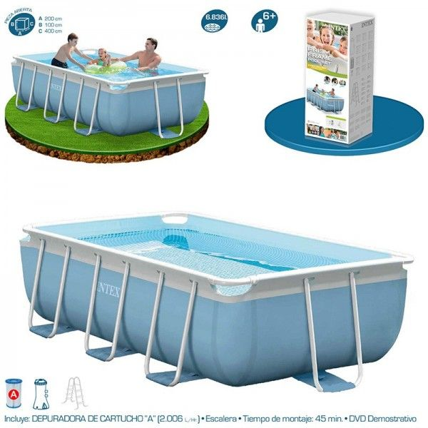piscina intex prisma frame 400x200x100 garden pool pinterest garden pool and gardens. Black Bedroom Furniture Sets. Home Design Ideas