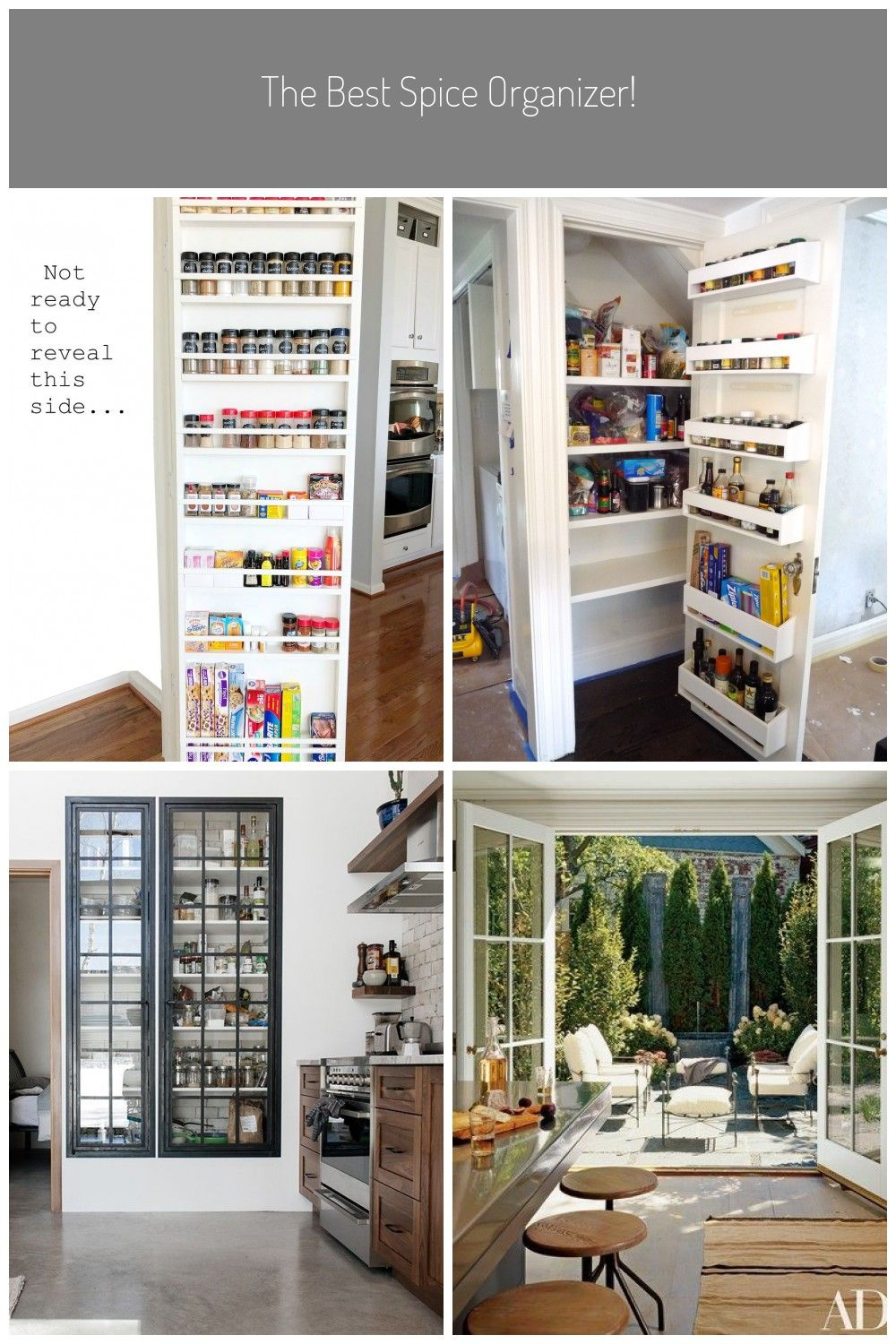 How to build a pantry spice door what a space saver