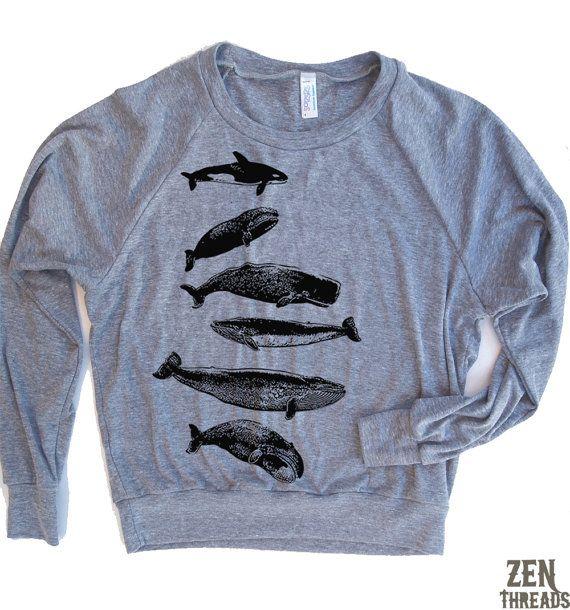 Womens Wale Collection-Tri-Blend-Pullover von ZenThreads auf Etsy
