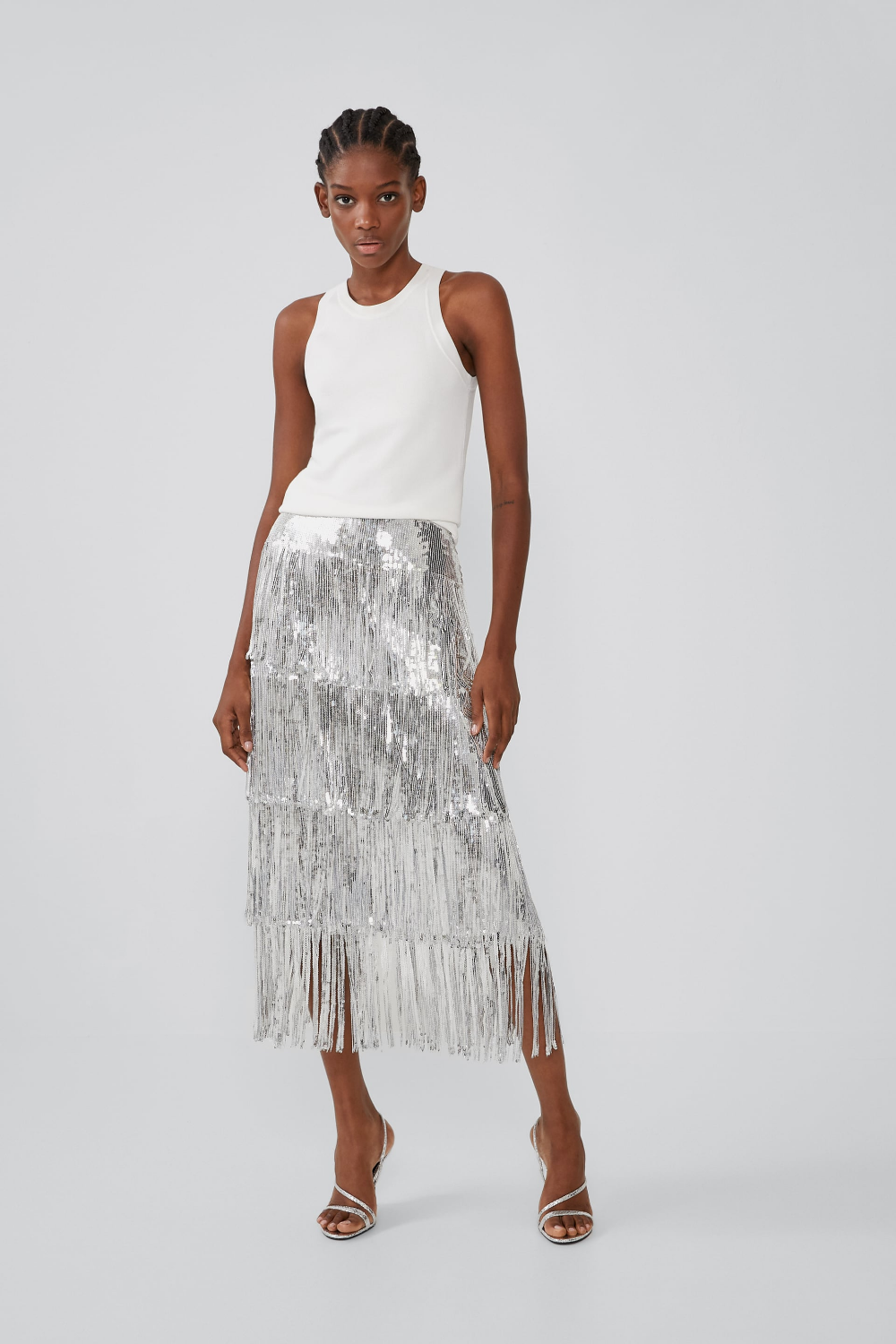 Limited edition fringed sequin skirt | Sequin skirt, Sequins
