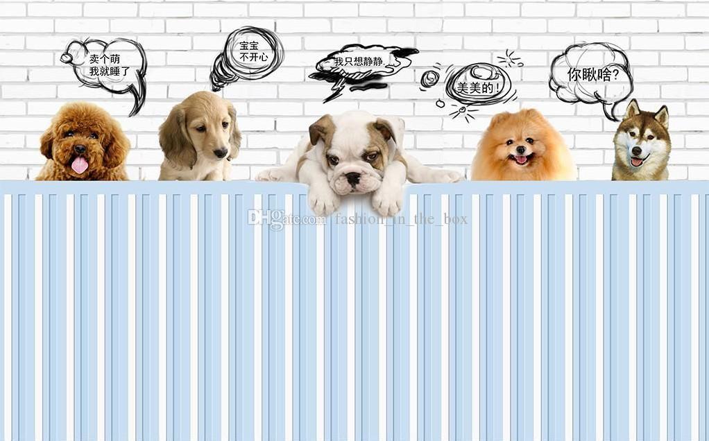 3d Room Wallpaper Custom Photo Cartoon Funny Dog Illustrations Decoration Painting 3d Wall Murals Wallpaper For Walls 3 D Malaysia Wall Wallpaper Mural Wallpaper 3d Wall Murals