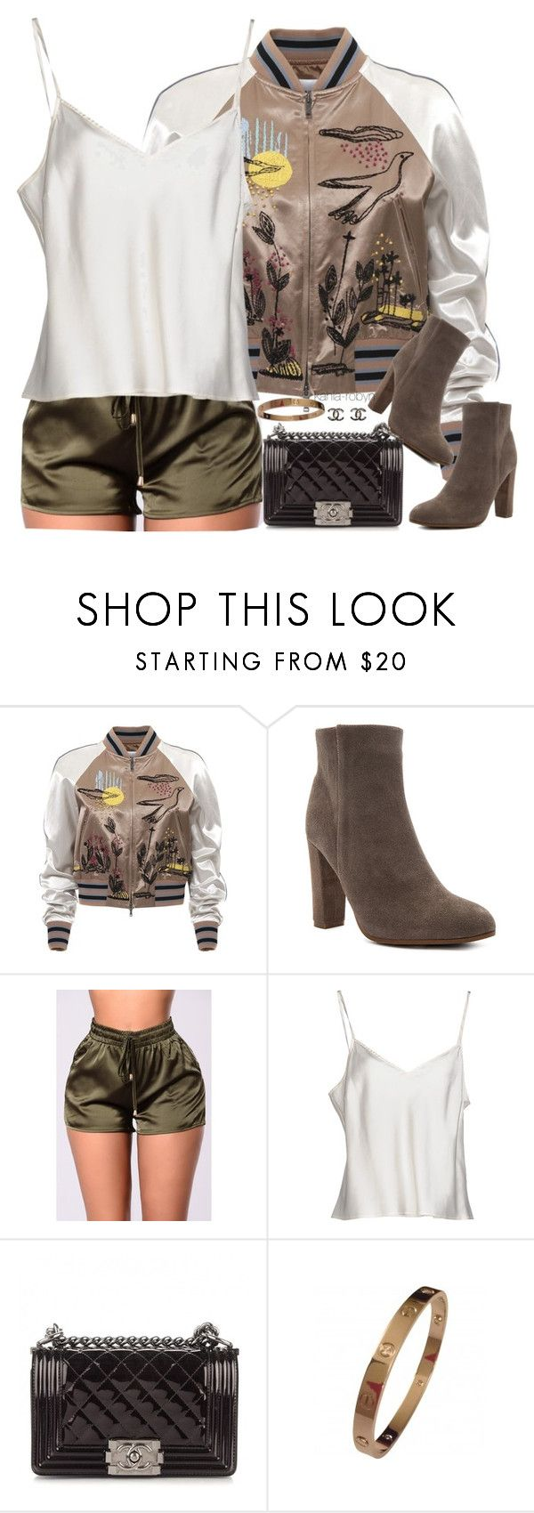 """""""V   XXI   XVII"""" by kahla-robyn ❤ liked on Polyvore featuring Valentino, Tony Bianco, Clips and Chanel"""