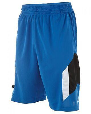 38ba119edbf836 Jordan Rise 3 Basketball Short Mens Mens Short Shorts 612853-432 Blue SZ-M