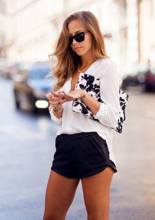 summer black and white