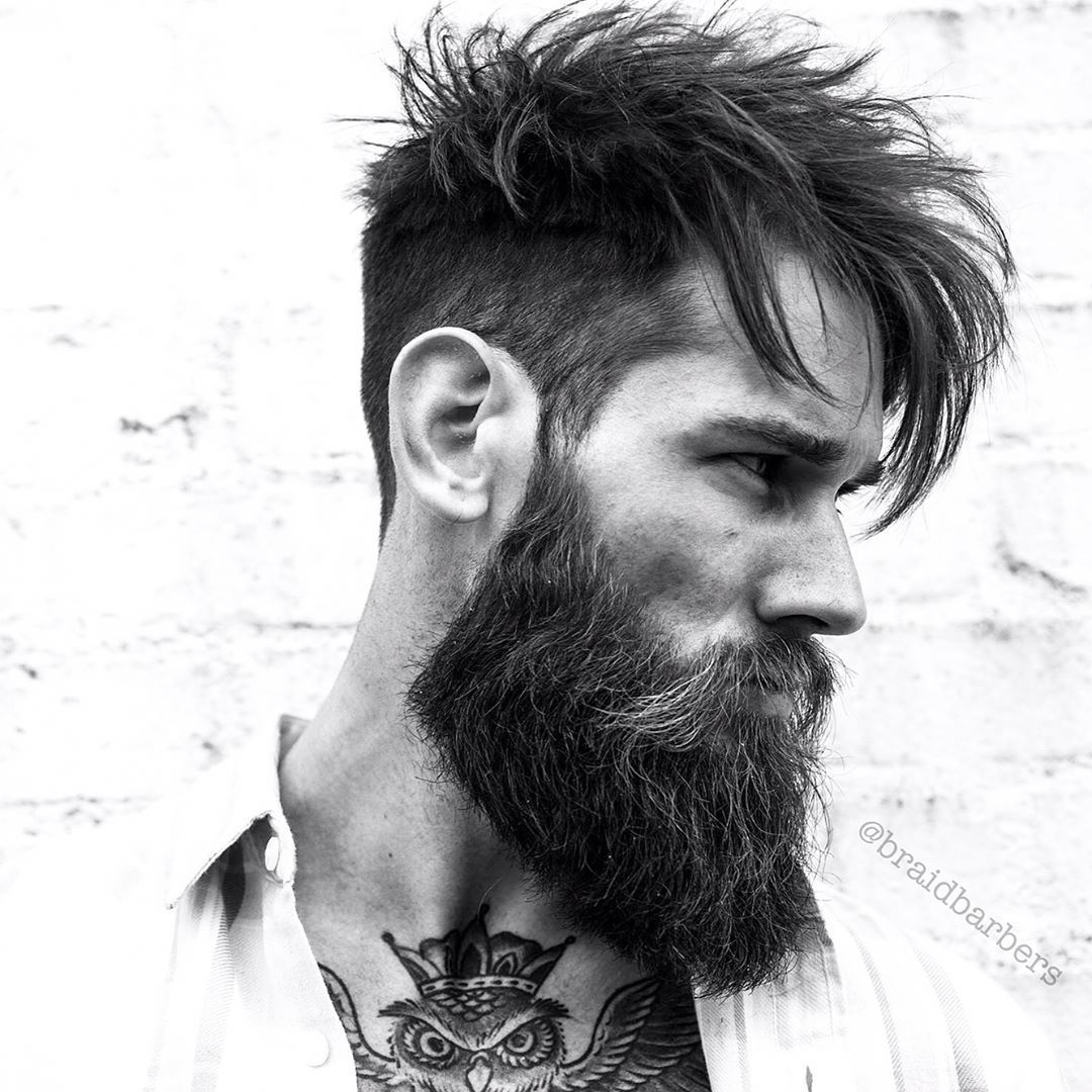 Mens haircuts with beards raid long hairstyle for men with beard    hot men with