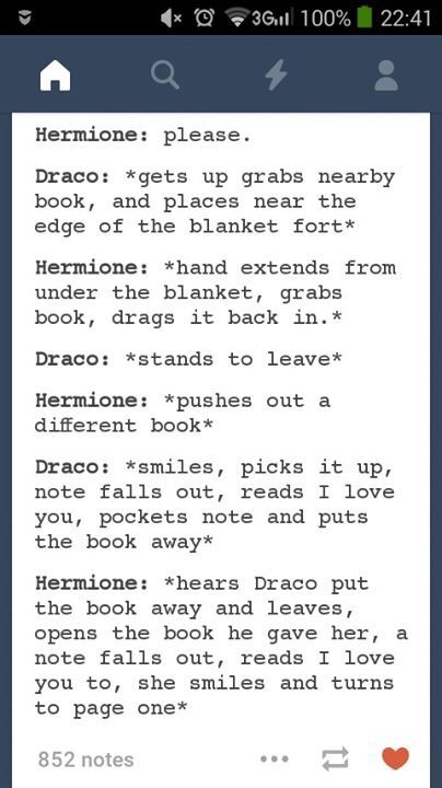 Aw The Difference Between Draco And Ron Is That Ron Would Be In There With Her Harry Potter Fanfiction Harry Potter Feels Harry Potter Hermione