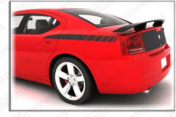 2006 07 08 09 2010 Dodge Charger Side Decal Scallop stripes SRT8 RT SXT Daytona
