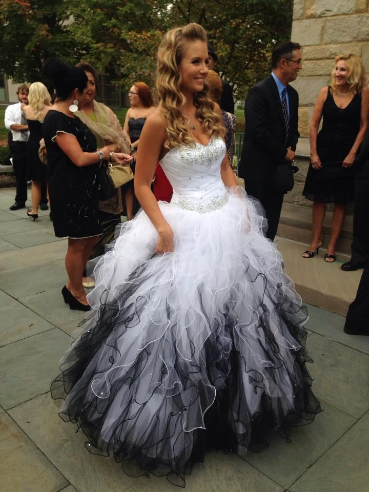Ball Gown Wedding Dresses : Black and White Wedding Gown Gorgeous ...