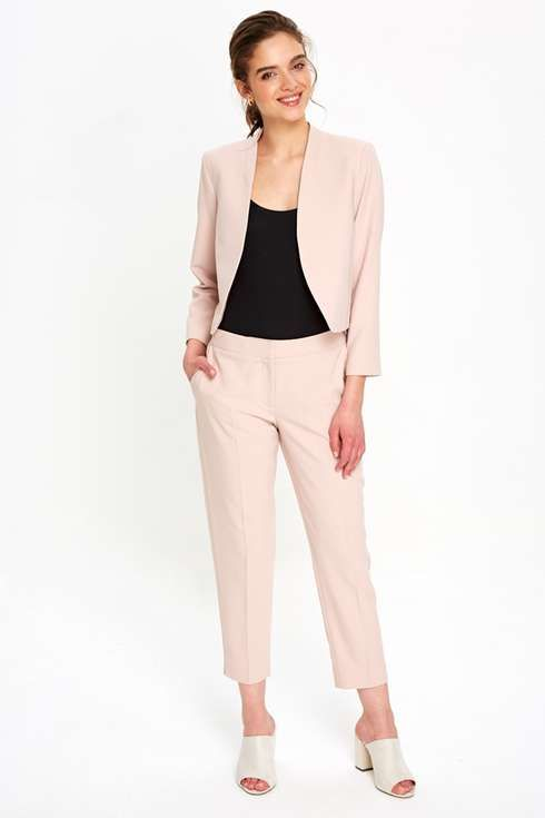 78a53c27372d Petite Blush Cropped Blazer Jacket | Petite Workwear Fashion ...