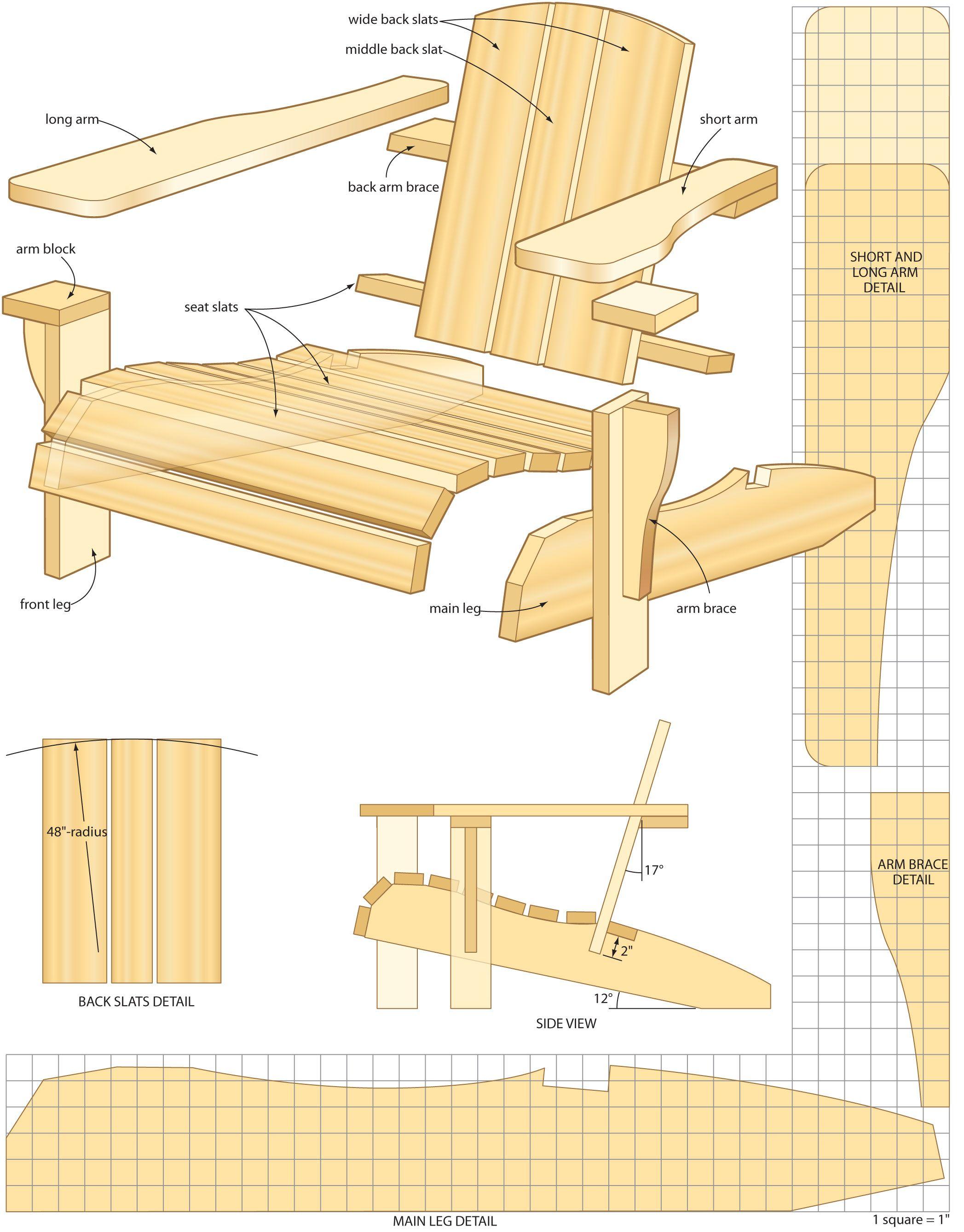 Adirondack Chairs Blueprints
