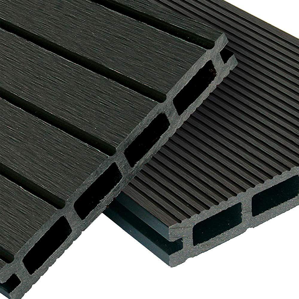 Wpc Terrassendielen Basic Line Komplett Set Dunkelgrau 12m 4m X 3m Holz Brett Dielen Boden Fliesen Unterk Terrassendielen Wpc Terrassendielen Terrasse