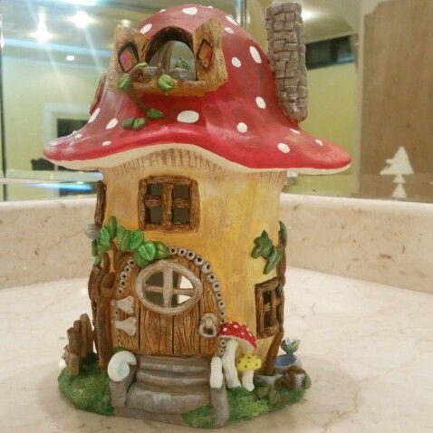 Air Dry Clay Mushroom House Clay Fairy House Fairy House Diy