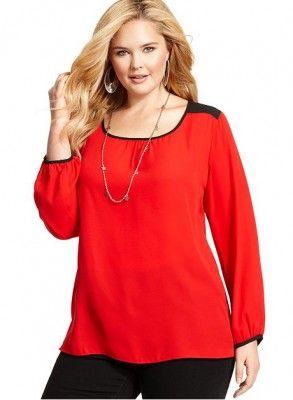 3bfbe2850 Modelos Blusas Para Gorditas En Color Rojo Para El Mes Del Amor ...