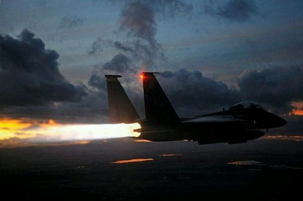 Stunning Shot Of A F 15E Strike Eagle In Full Afterburner