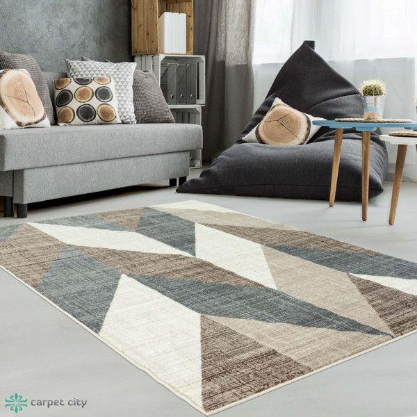 Raumgestaltung Farbe Beige Anthrazit Braun Raumgestaltung: Teppich Mit Geometrischen Muster