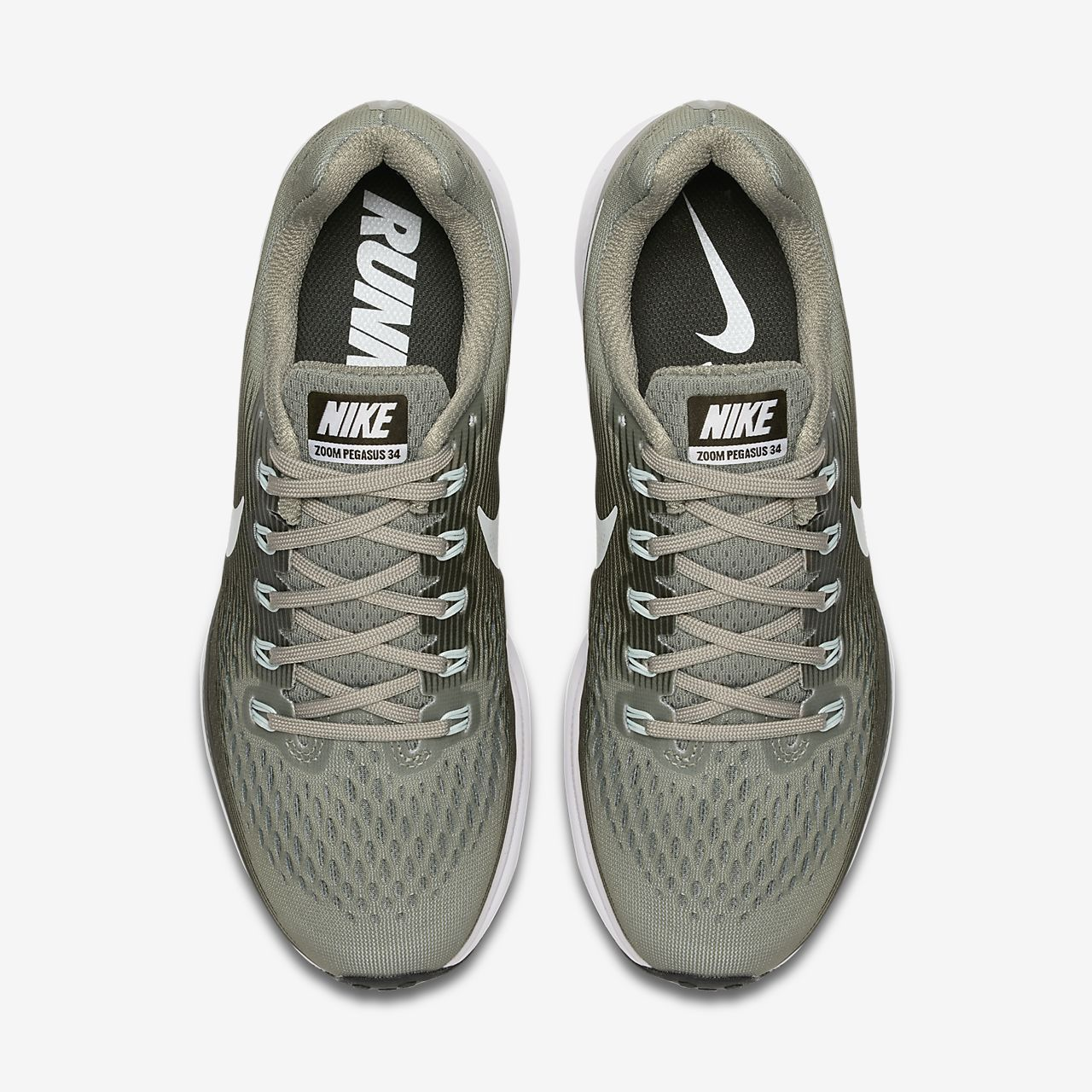 best service f84d3 0076b Nike Air Zoom Pegasus 34 Women s Running Shoe- Dark Stucco Sequoia Black Barely  Grey