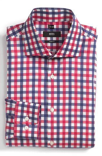 7df60a4ac BOSS HUGO BOSS Sharp Fit Dress Shirt available at #Nordstrom | Men's ...