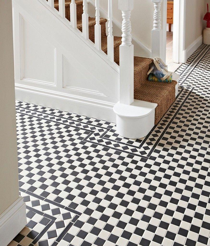 Victorian Blackwhite Chequer Tile Topps Tiles Ides Pour La