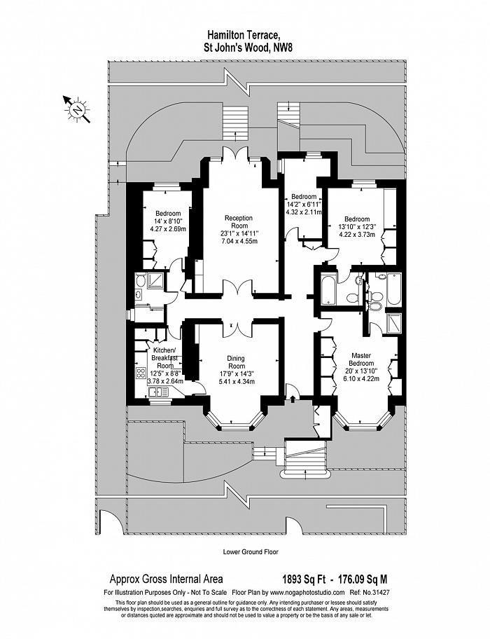 Perfect Hamilton Terrace, St Johnu0027s Wood, NW8 Floorplan