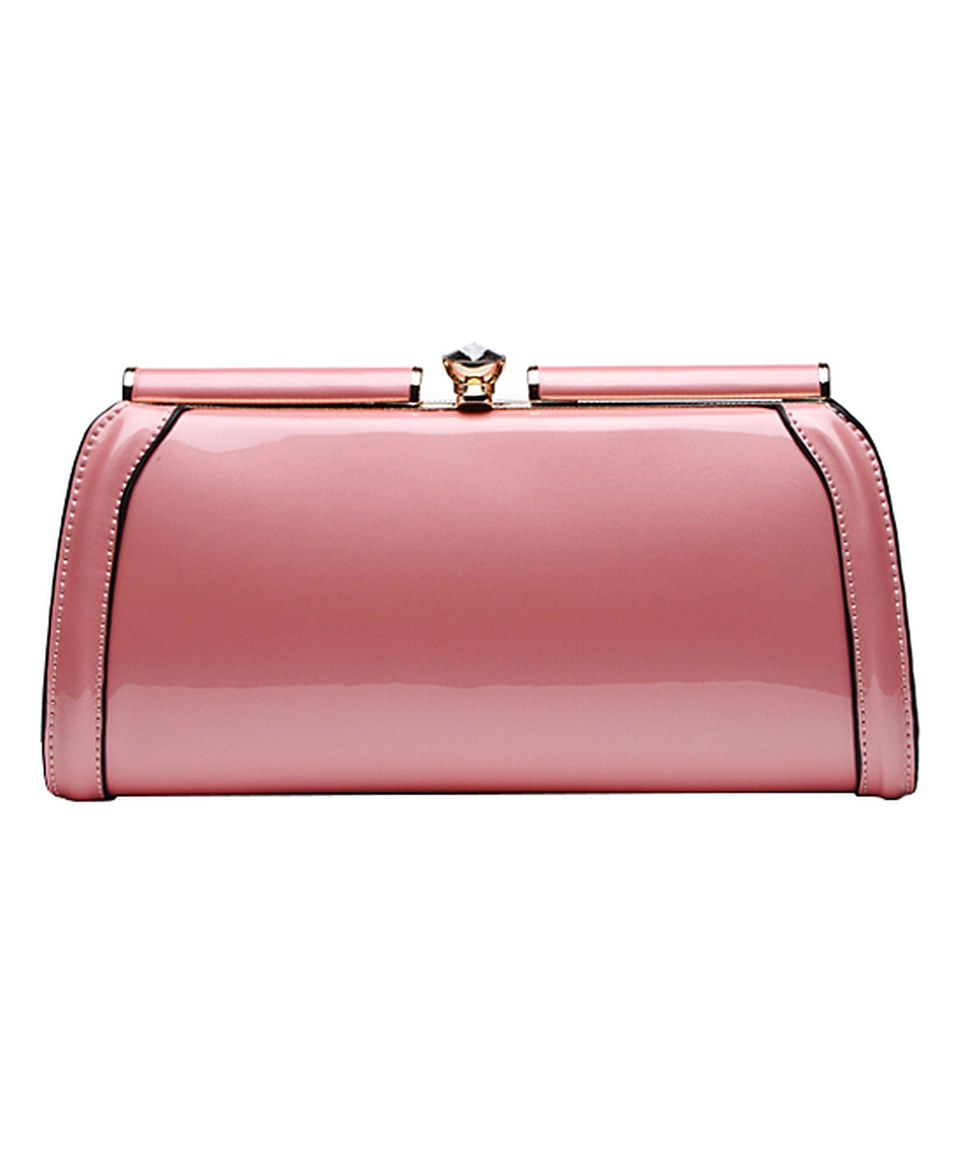 Another great find on #zulily! MKF Collection Pink Patent Chain-Strap Clutch by MKF Collection #zulilyfinds