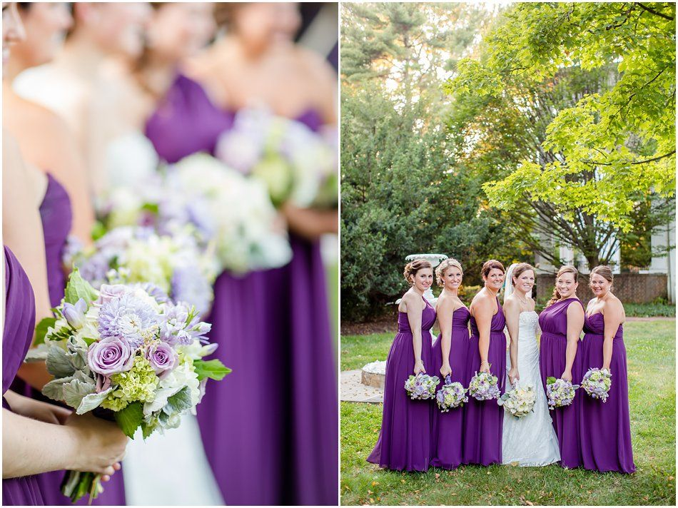 Gray Rock Mansion Purple Eggplant Bridesmaids Dresses Lavender